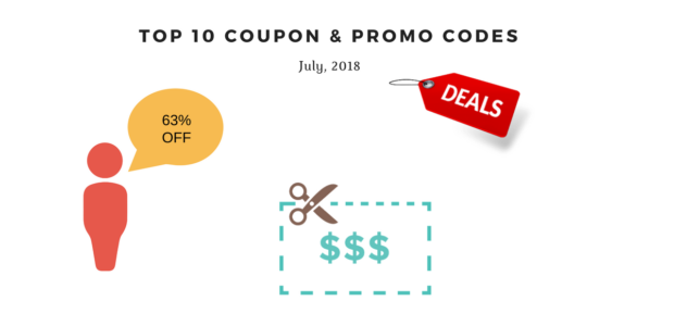 top 10 coupon & promo codes July 2018